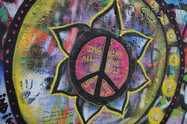 from a John Lennon wall