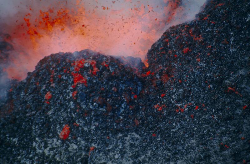 exploding lava