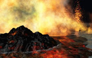 volcanic eruption on earth