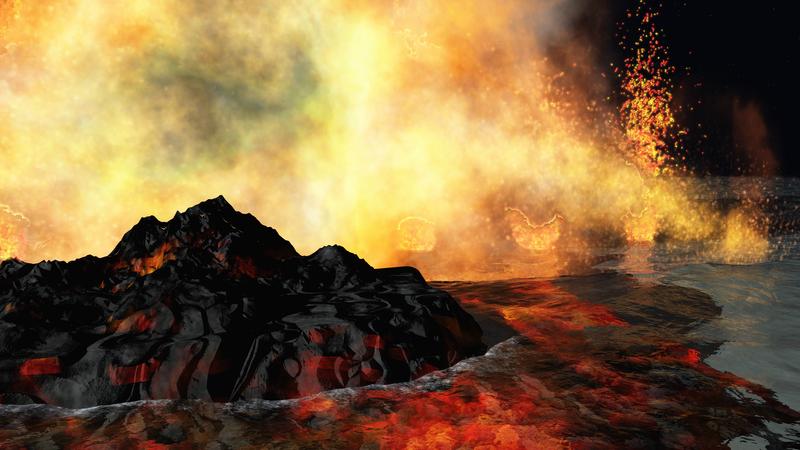 volcanic eruption on earth